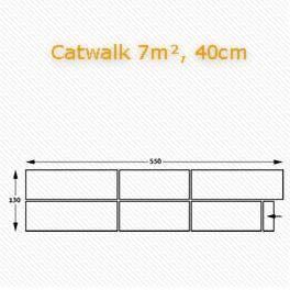 Catwalk, Podium, Bühnentechnik.