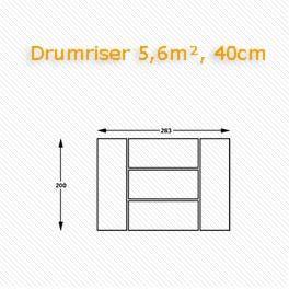 Drumriser, Podium, Bühnentechnik.
