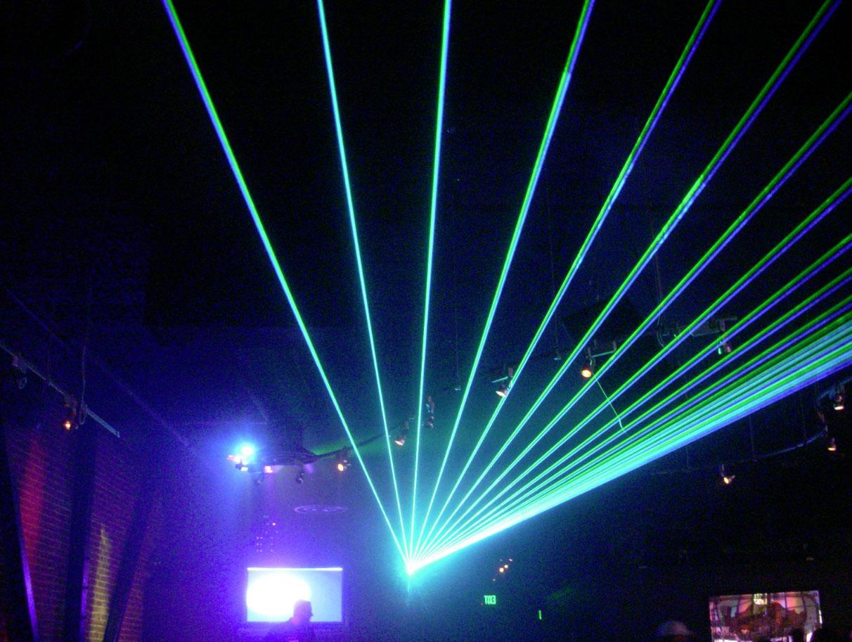 Laser-Lichtshow.