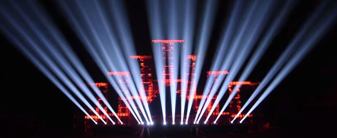 Bühne, Beleuchtung, Konzert.