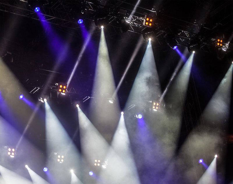 Scheinwerfer, Lichtshow.