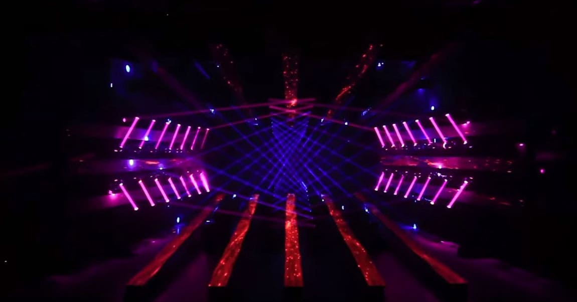 Bühne, Lasershow, Konzert.