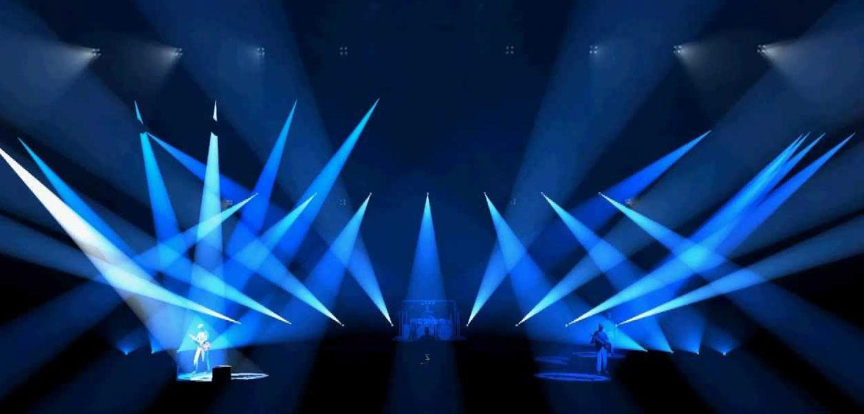 Bühne, Lichtshow, Konzert.
