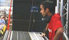 Tontechniker Operator.