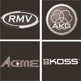 Soundsystemhersteller-Logos.
