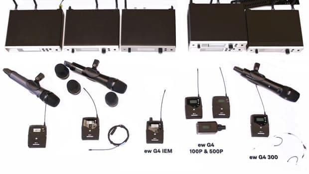 Mikrofonsysteme von Sennheiser.