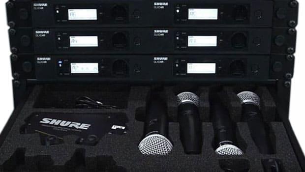 Funkmikrofone von Shure.