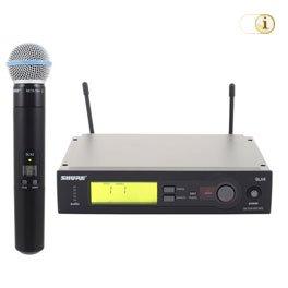 Shure SLX / Beta 58A Set / S6 UHF-Sendesystem.