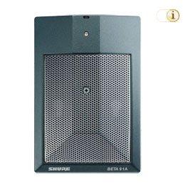 Beta 91A Grenzflächenmikrofon für die Bassdrum.