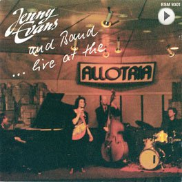 Jenny Evans - Live at the Allotria. LP,Cover.